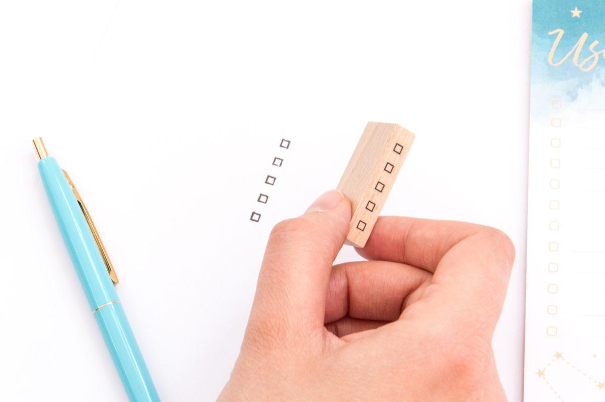 piecztka lista 1200x798 - Pieczątka do planerów i bullet journal | Listy zadań, symbole, plany