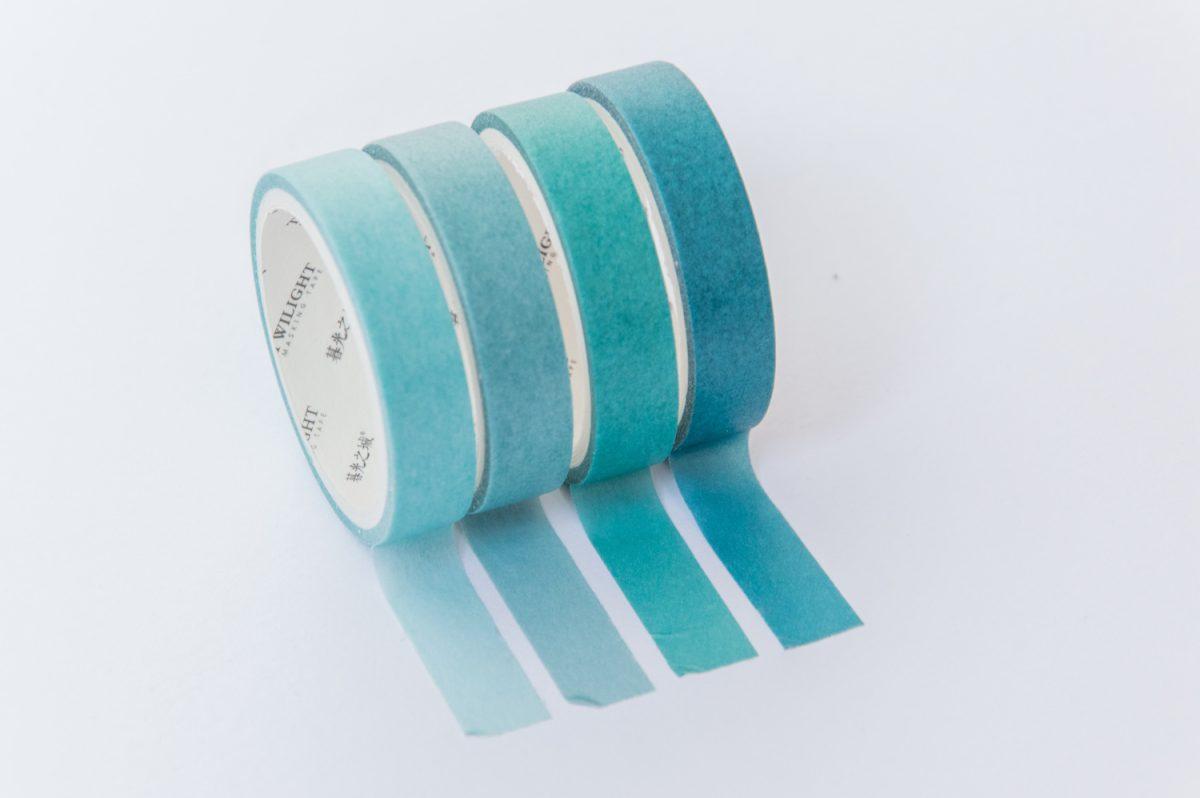 taśmy washi tape zestaw niebieski