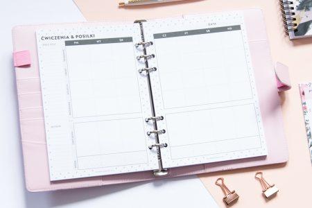 fitnessplanner wklad tydzien 450x300 - Wkład do organizera - Planer fitness na cały rok