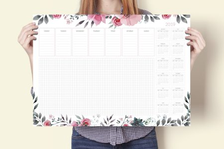 Podkładka na biurko, kalendarz 2019