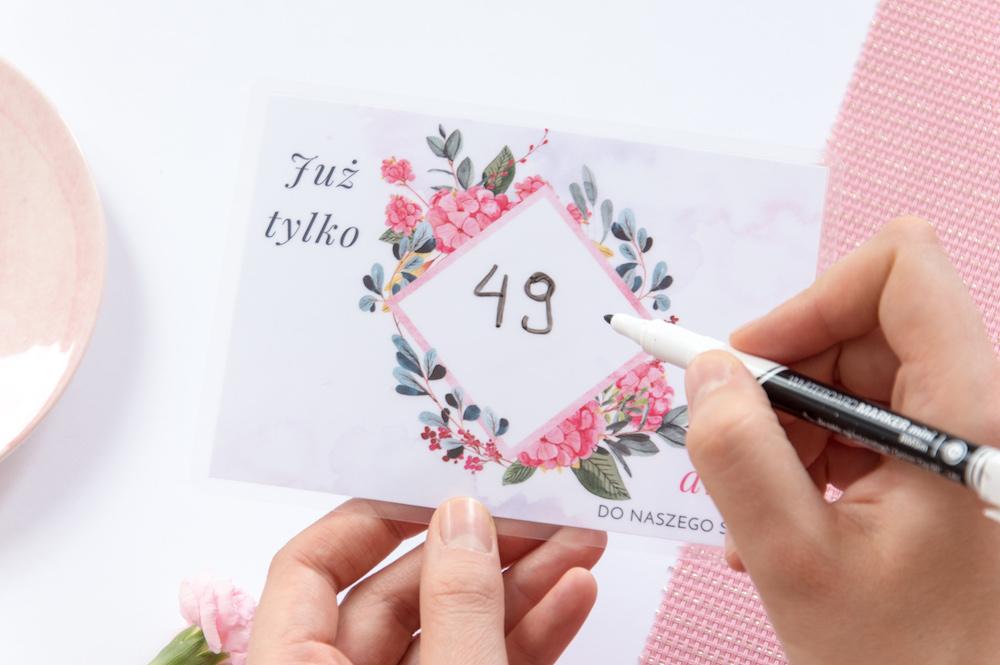 Zmywalny licznki dni do ślubu