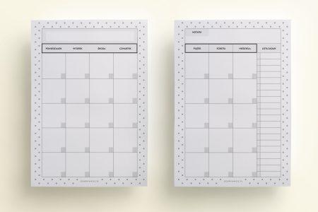 wkład do organizera planer miesięczny
