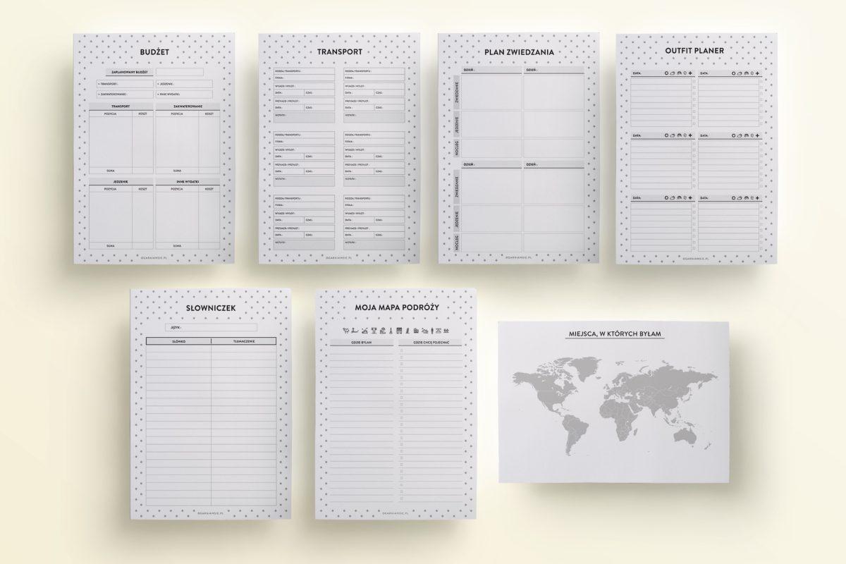zestaw Planer Podróży Travel Planner