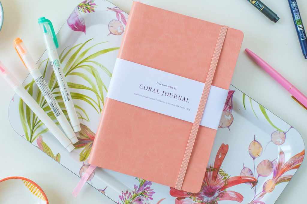 coral journal - notes bullet journal