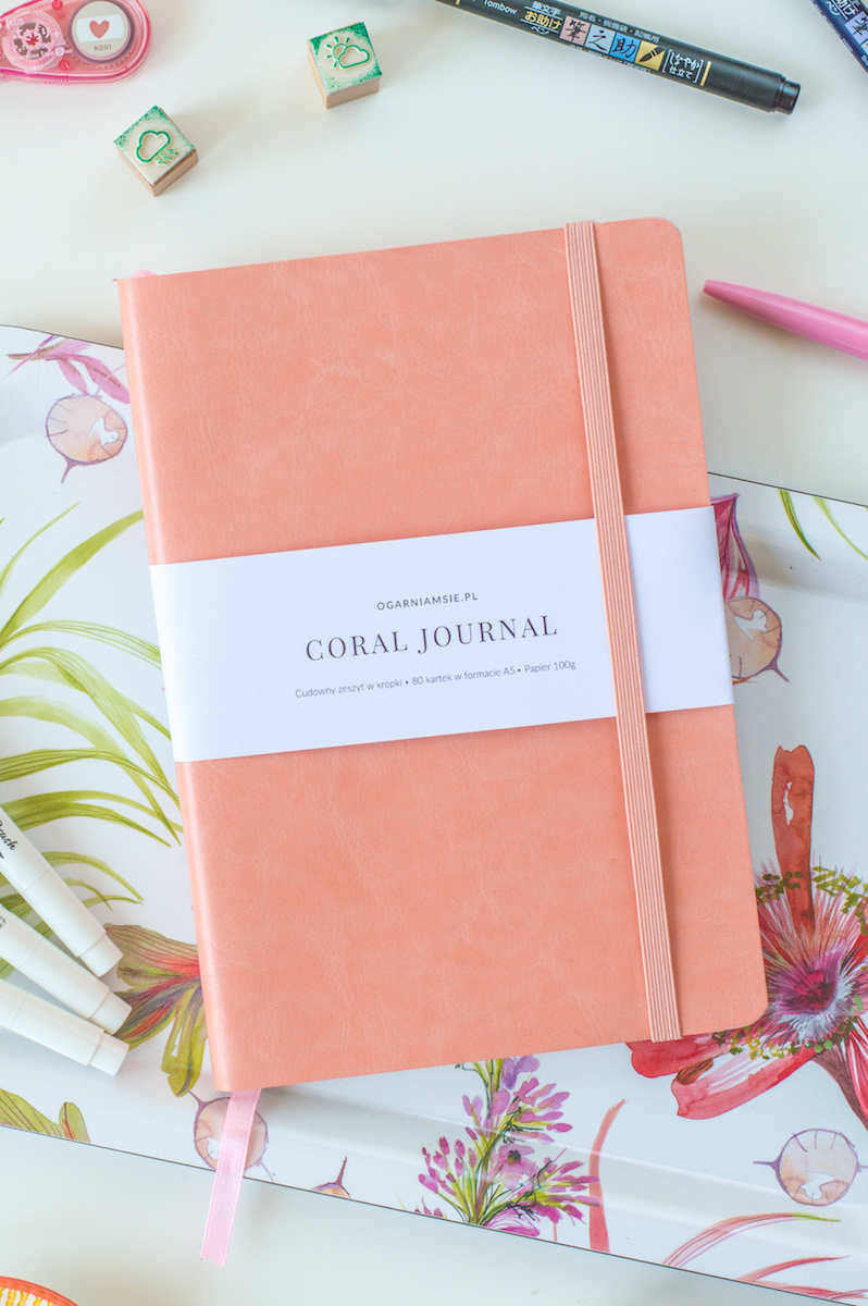 coral journal - zeszyt do bullet journal