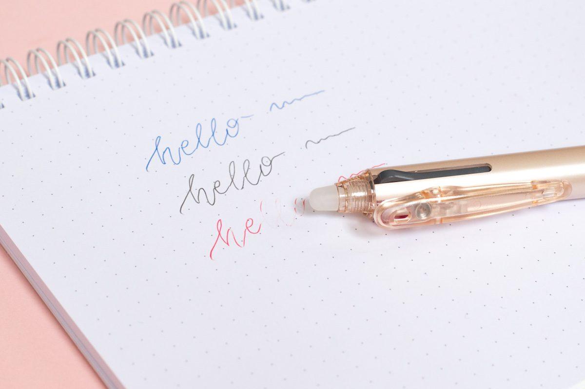 zmazywalny długopis kilkukolorowy Pilot frixion