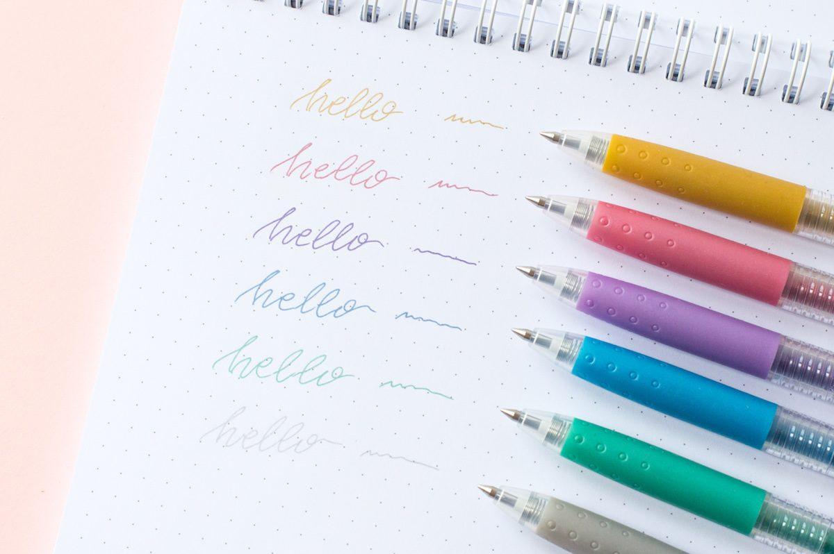 Długopisy żelowe Pilot Juice, 6 metalicznych kolorów