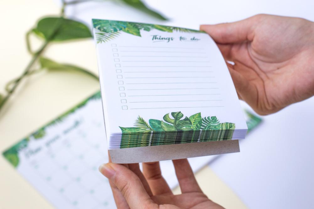 notesik lista zadań to do tropiki