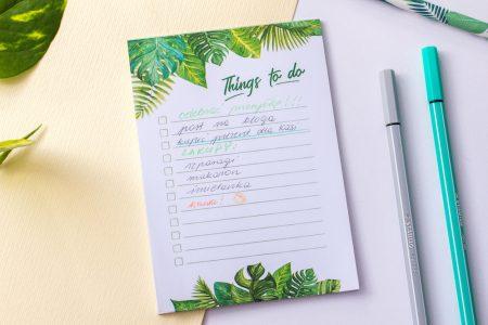 notesik lista zadań to do
