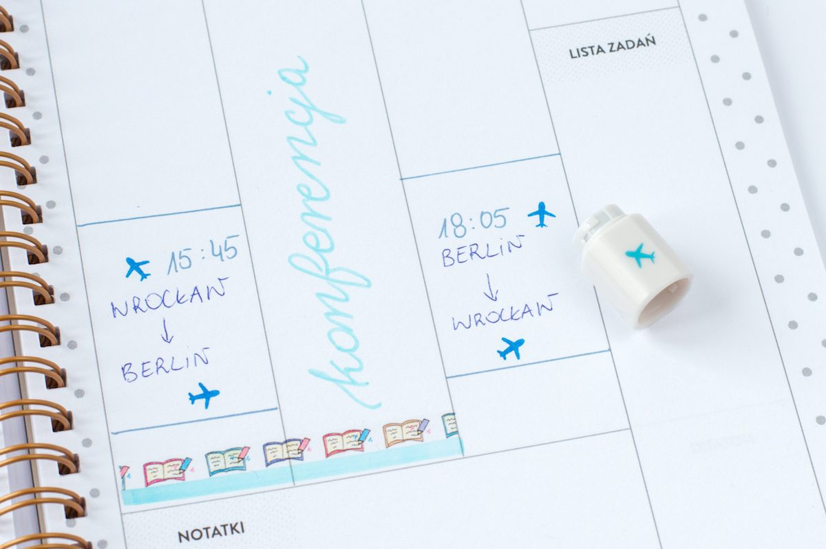 zestaw mini pieczątek do bullet journala lub planera