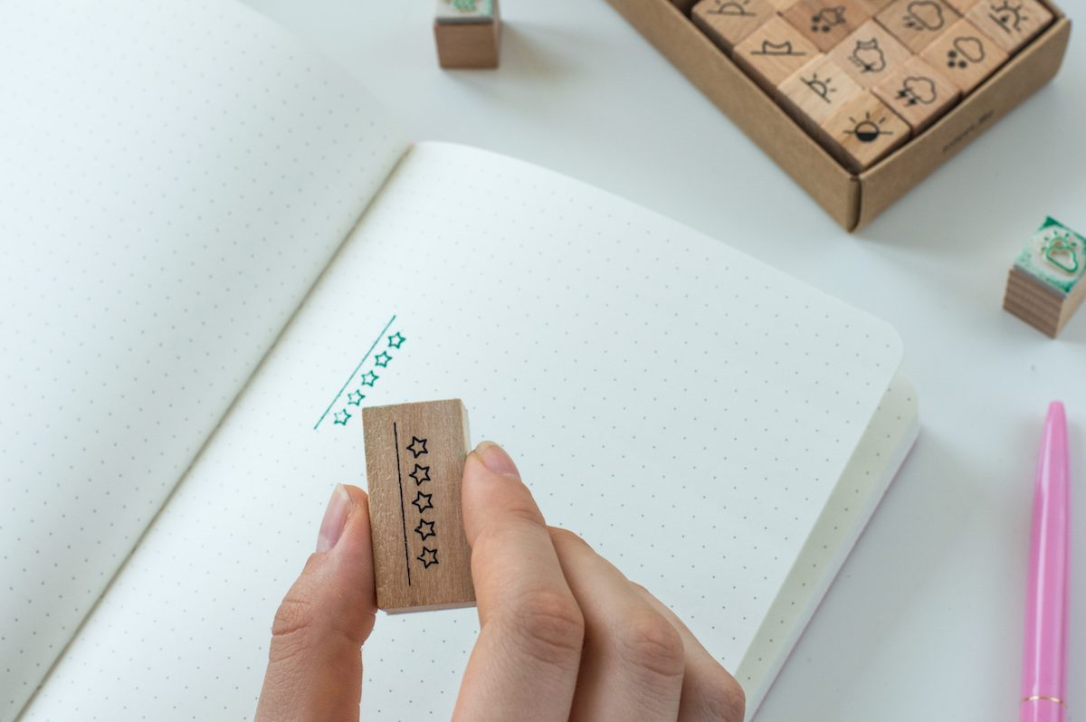 stempel do bullet journal gwiazdki