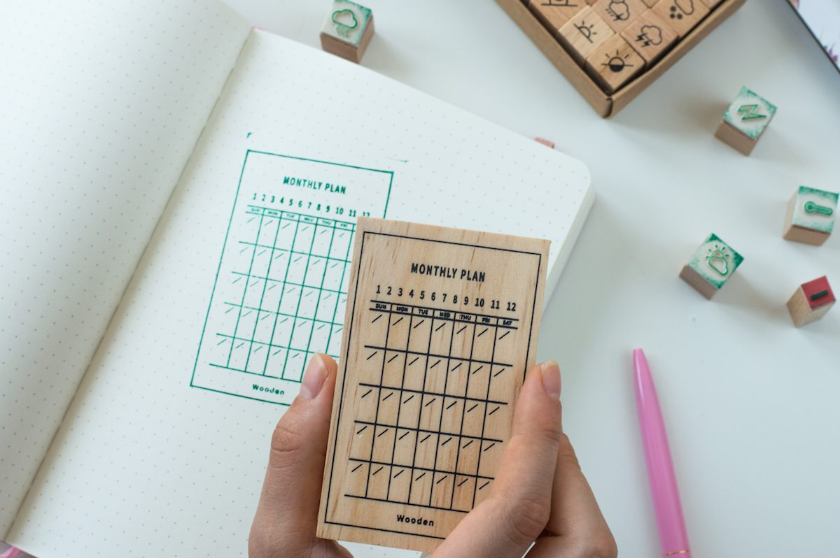 stempel do bullet journal plan miesiąca