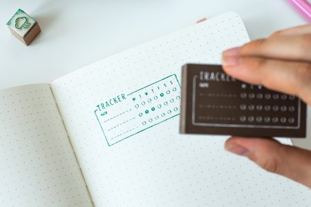 stempel do bullet journal habit tracker