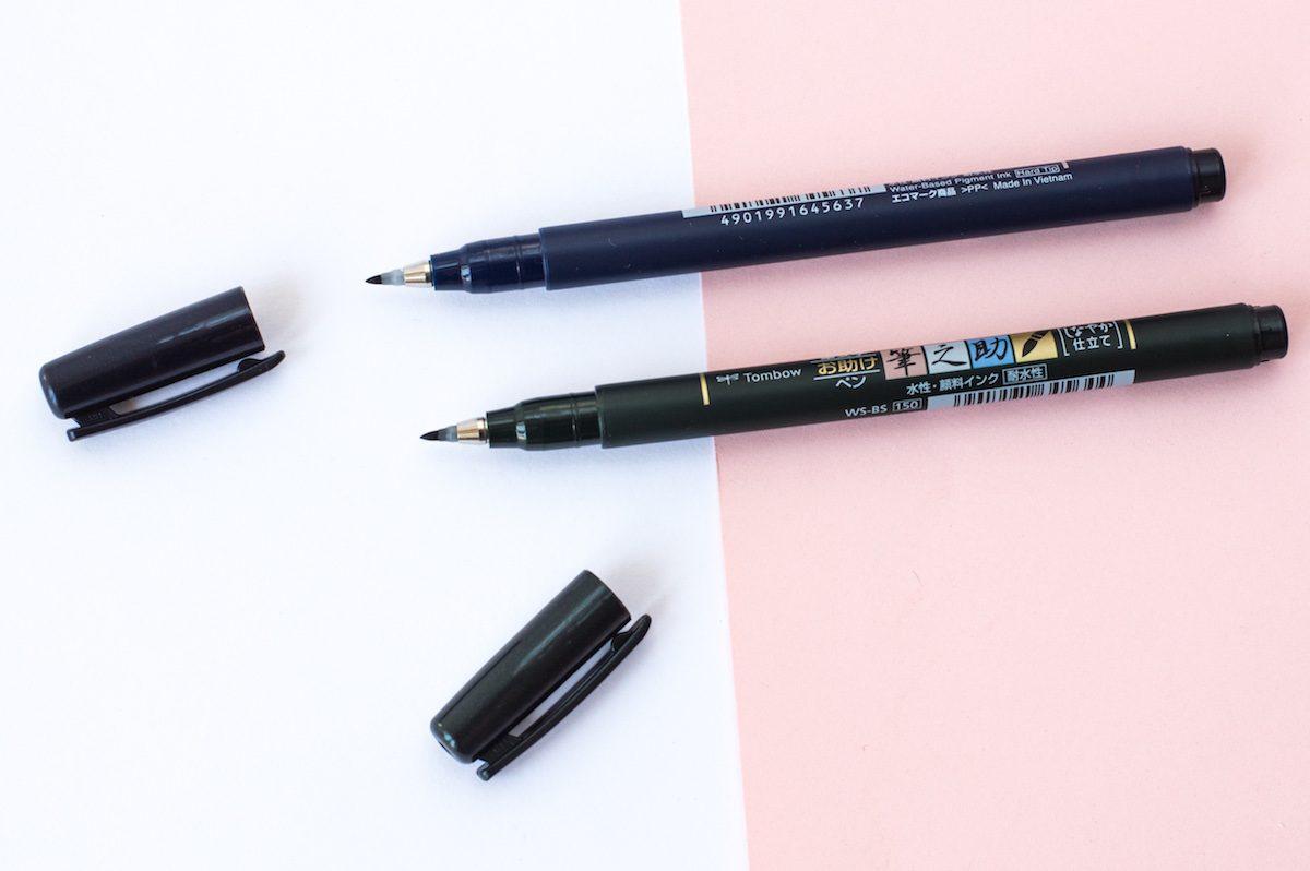 Brush pen dla początkujących Tombow