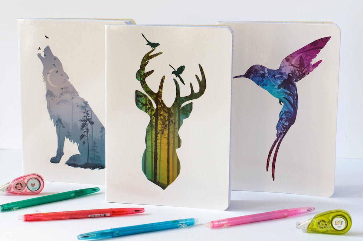 piękne zeszyty w kratkę a5 animals