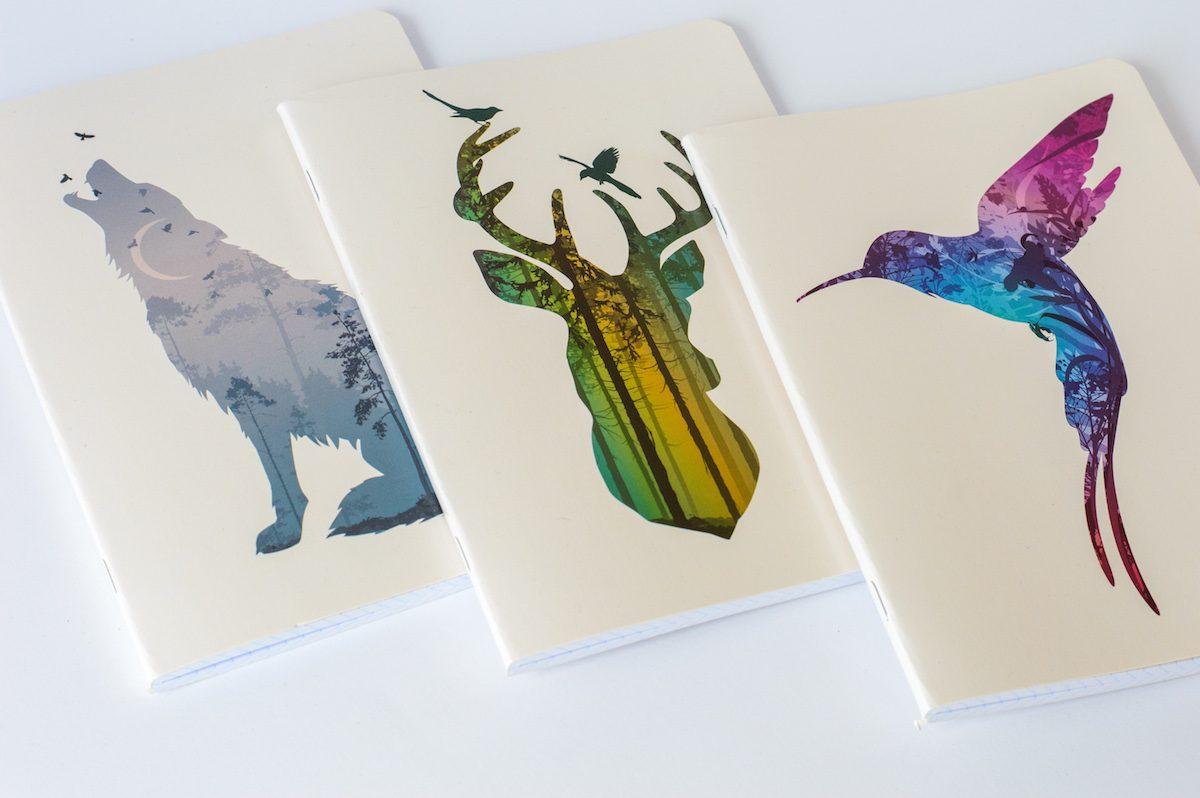 zeszyty w kratkę a5 animals