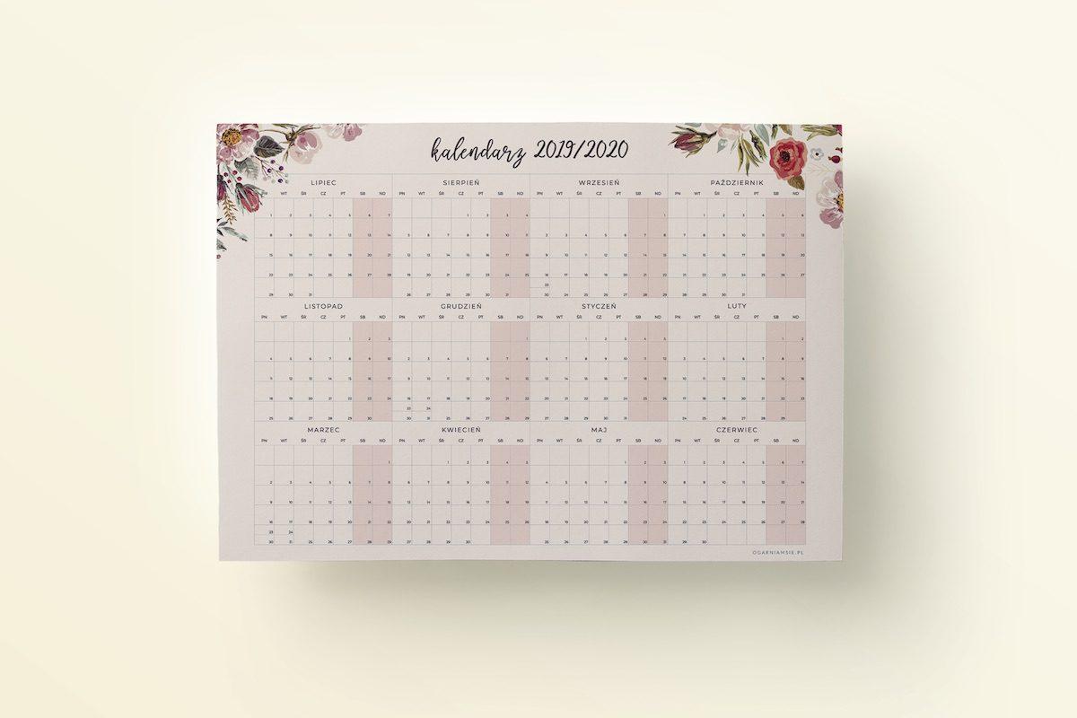 OgarniamSie Kalednarz 2019 2020 Kwiaty