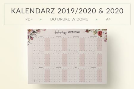 Planery Do Druku Organizery I Kalendarze Pdf