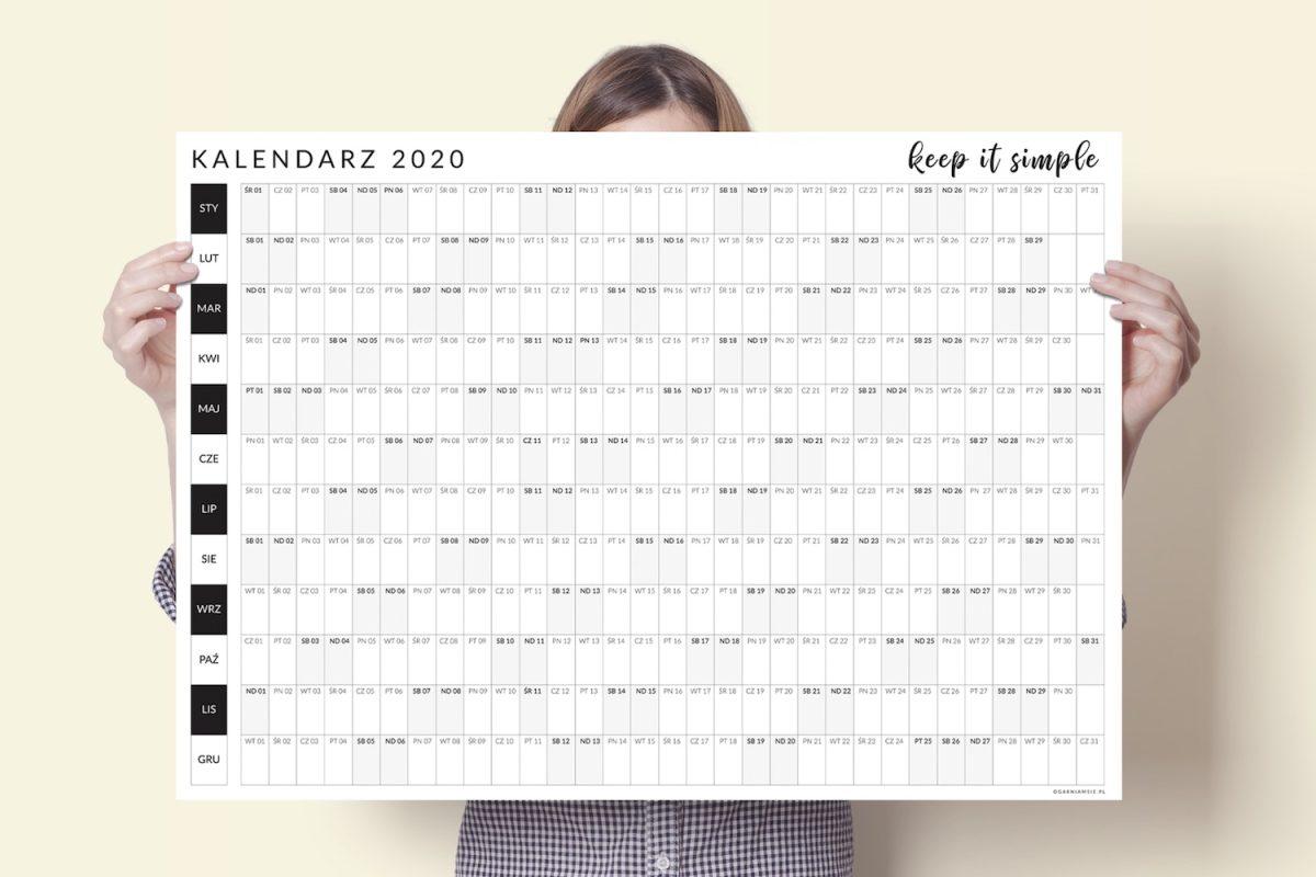 kalendarz plakat ścienny 2020