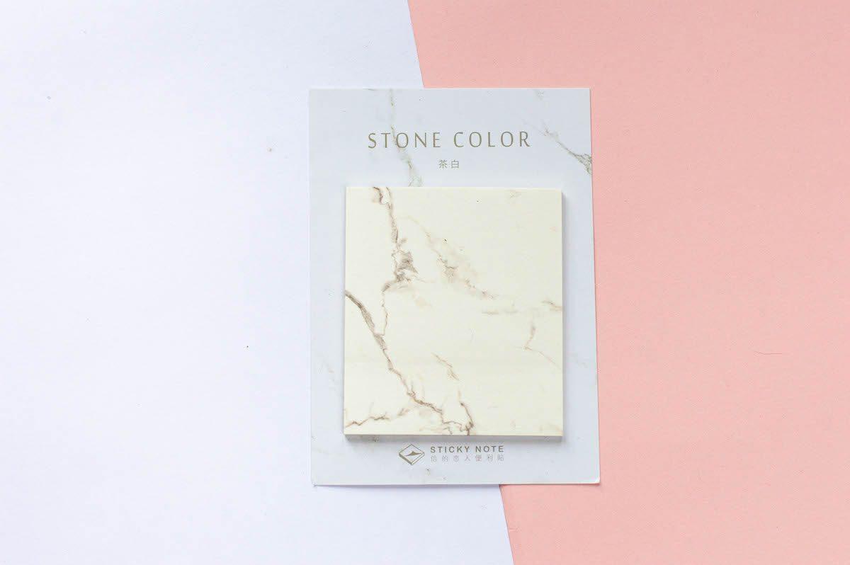 karteczki samoprzylepne marmurkowe białe