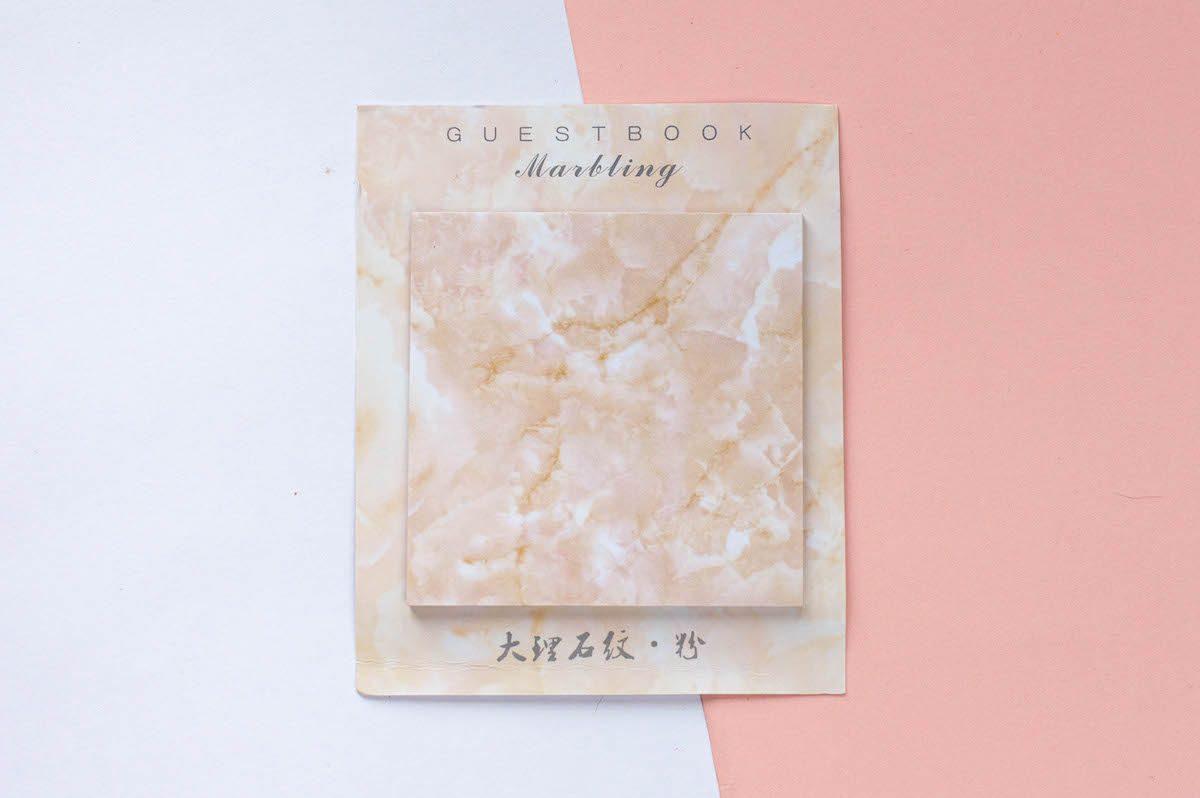 karteczki samoprzylepne marmur różowe