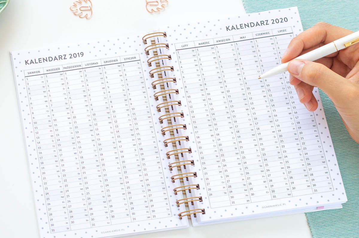 planer kalendarz 2019/2020