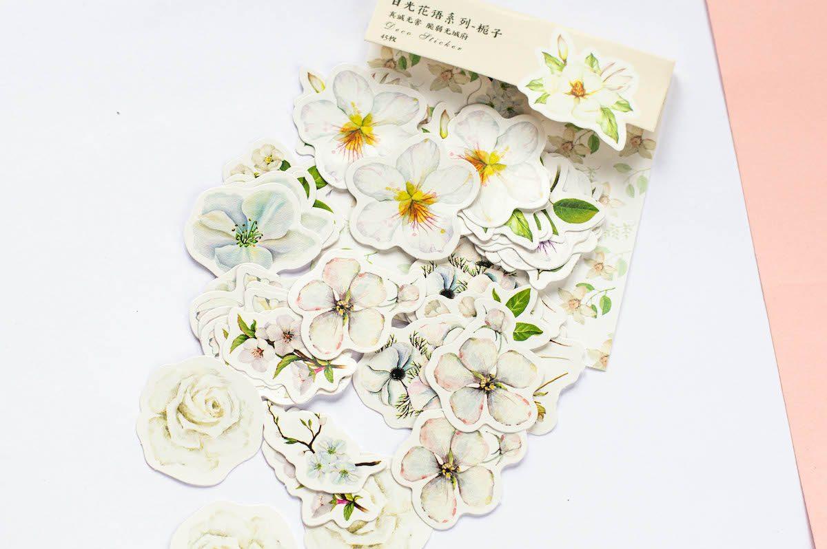 naklejki do bullet journal kwiaty wszystkie