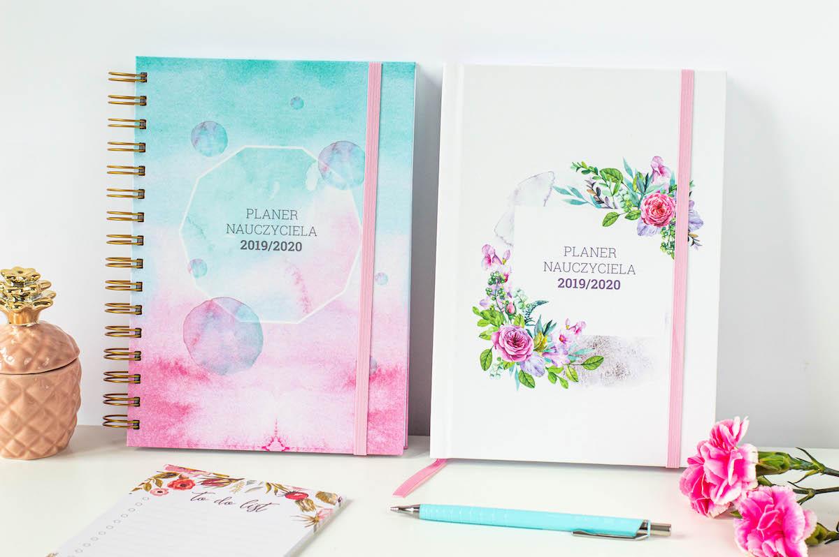 kalendarz nauczyciela okładki kwiaty akwarela 3