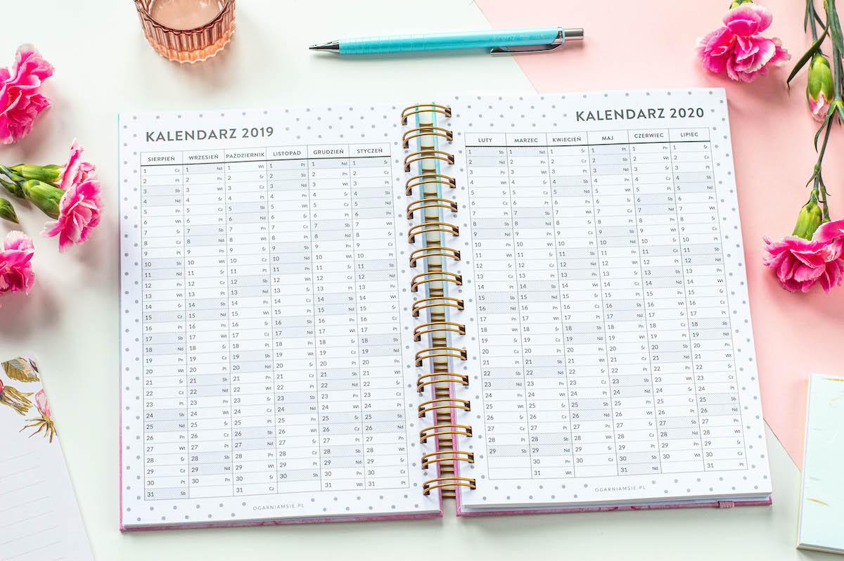 planer nauczyciela spirala środek kalendarz