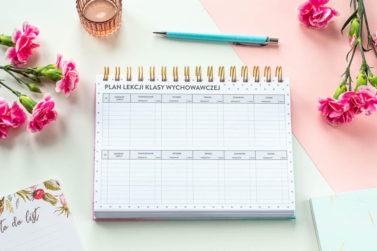planer nauczyciela spirala środek plan lekcji