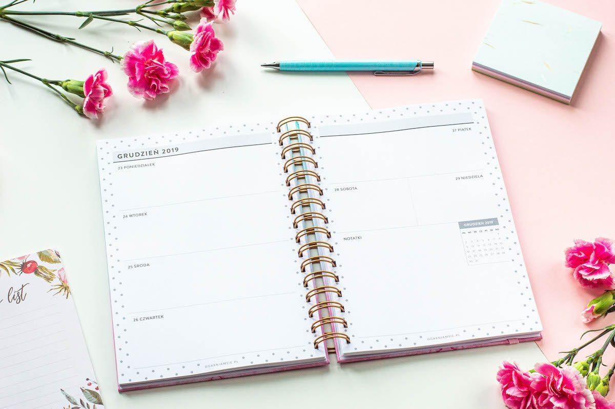 planer nauczyciela spirala środek kalendarz tygodniowy