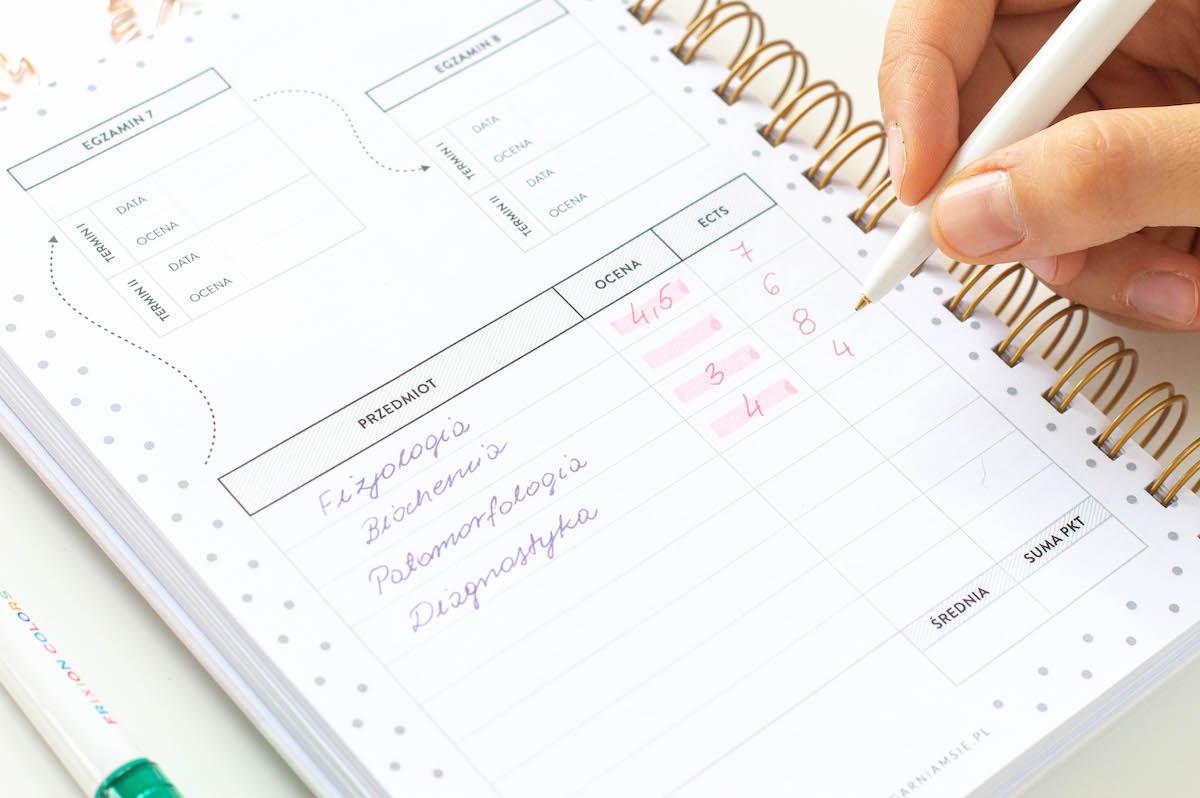 planer studenta środek egzaminy