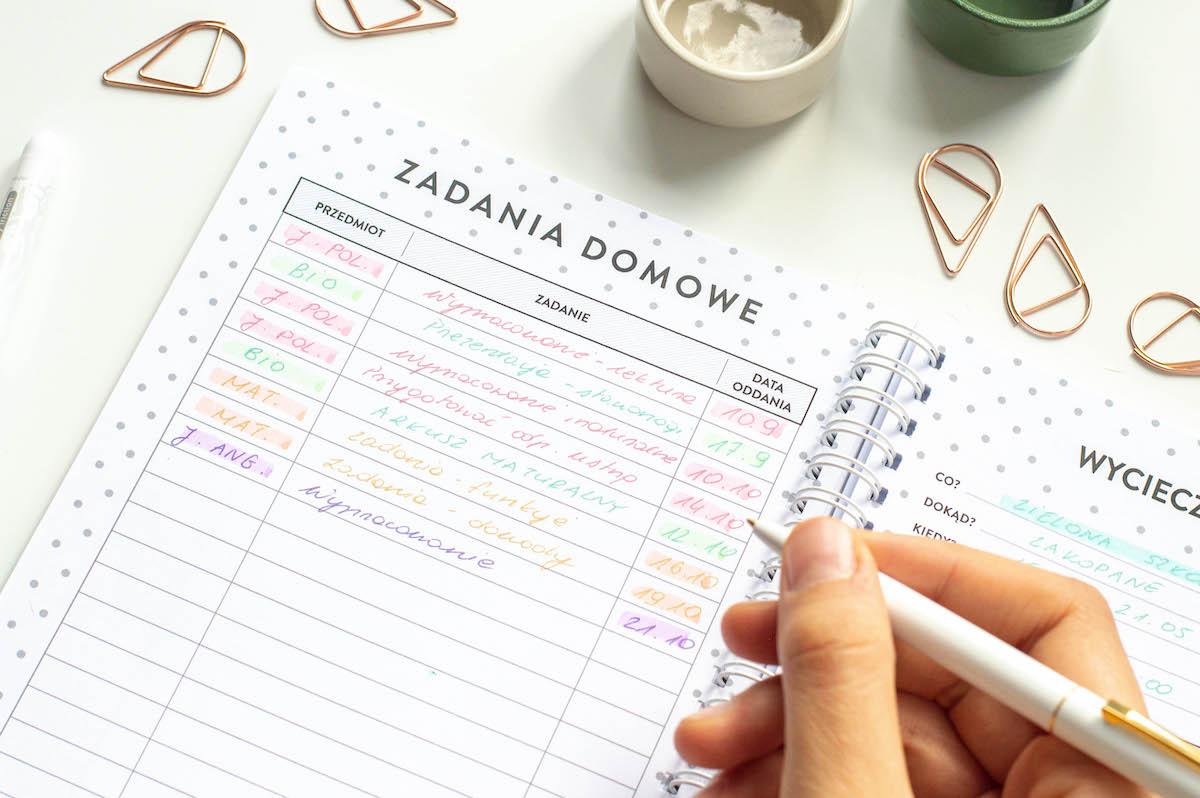 planer-ucznia-zadania-domowe