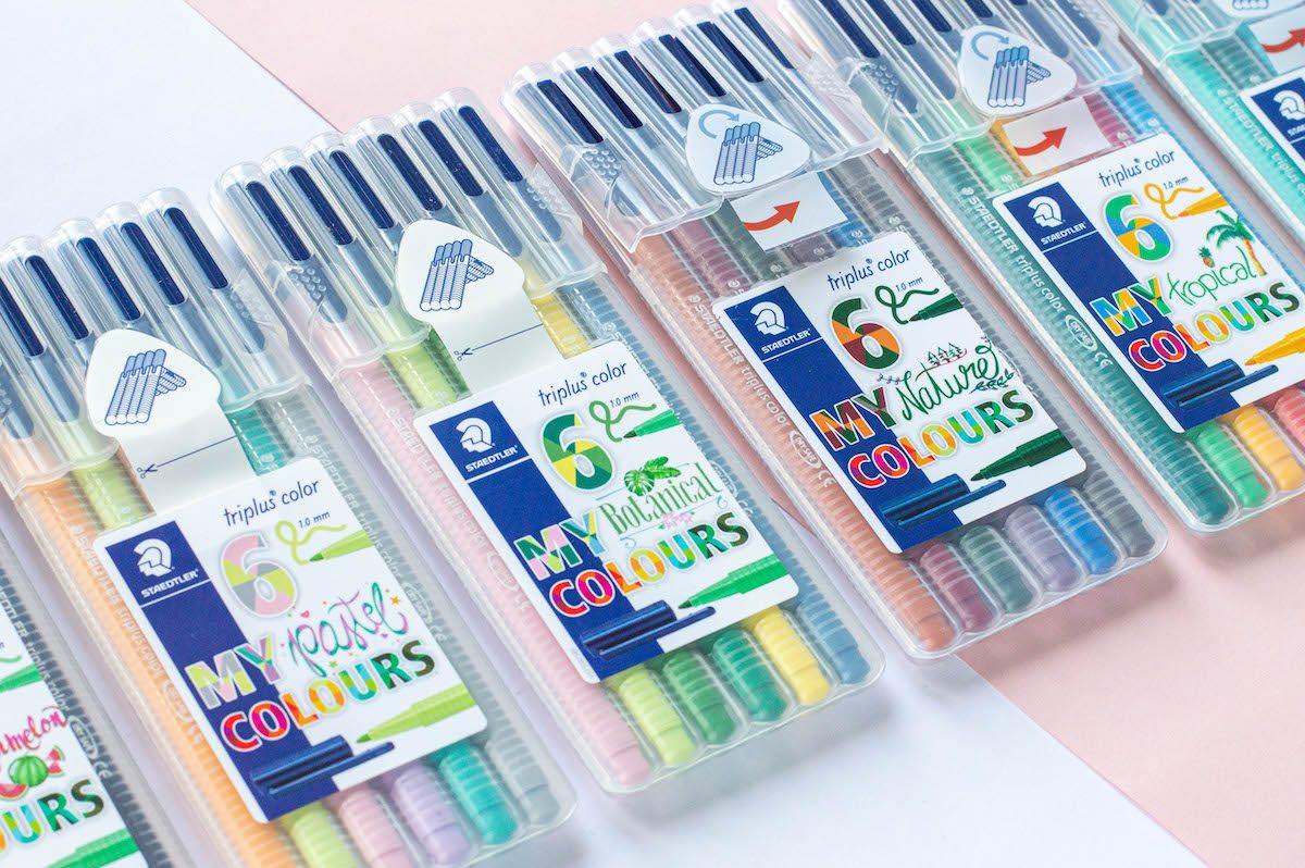 kolorowe cienkopisy Triplus zestawy 2