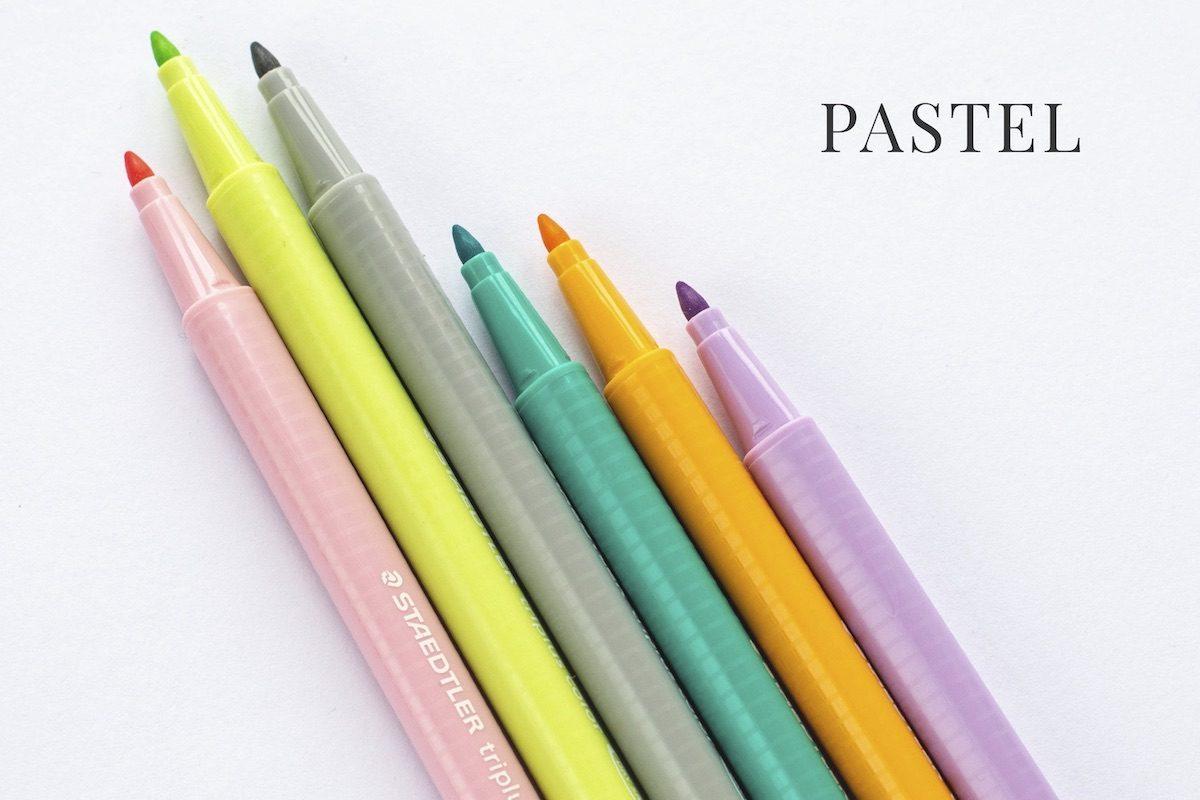 cienkopisy Staedtler Triplus pastel