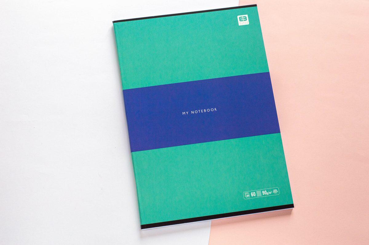 zeszyt A4 w kratkę zielony