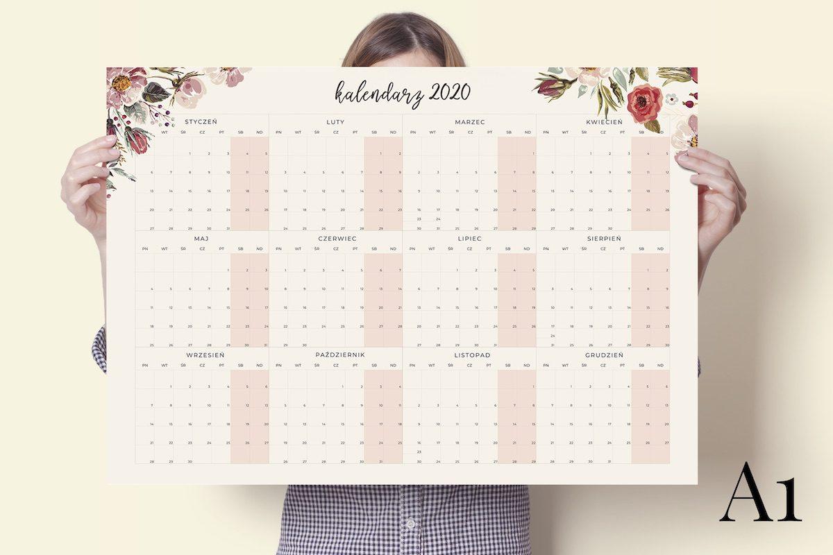 a1 floral 2020 kalendarz