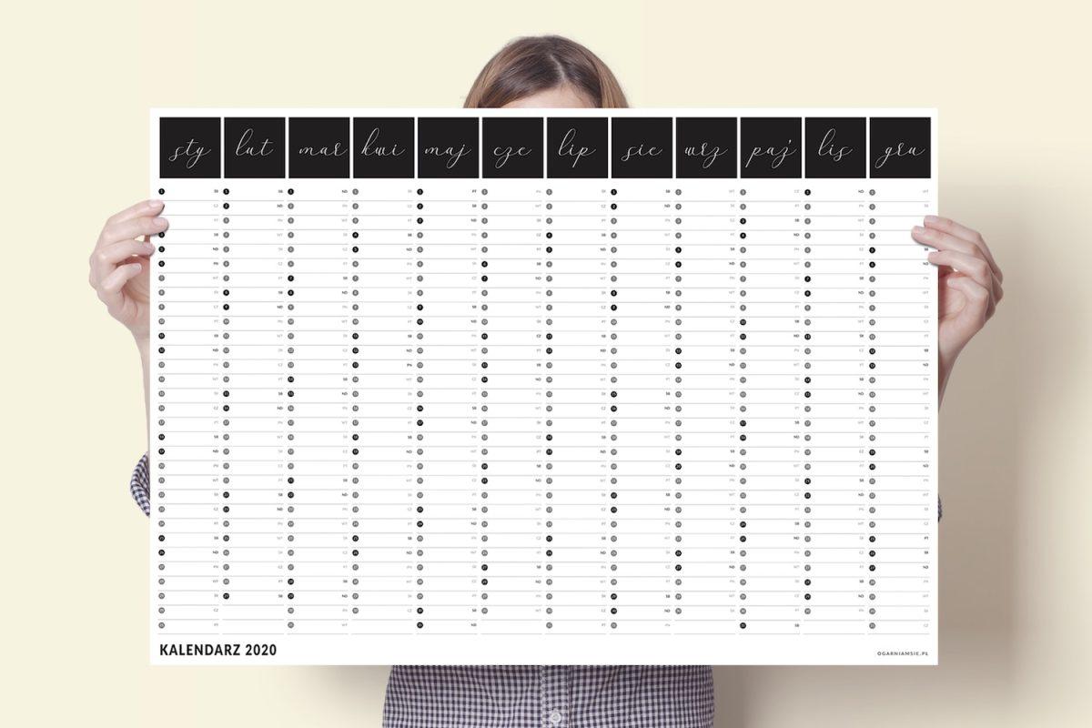 a1 kalendarz plakat xxl 2020 5 1200x800 - Planer Kalendarz ścienny 2019/2020 i 2020 | Kalendarz plakat