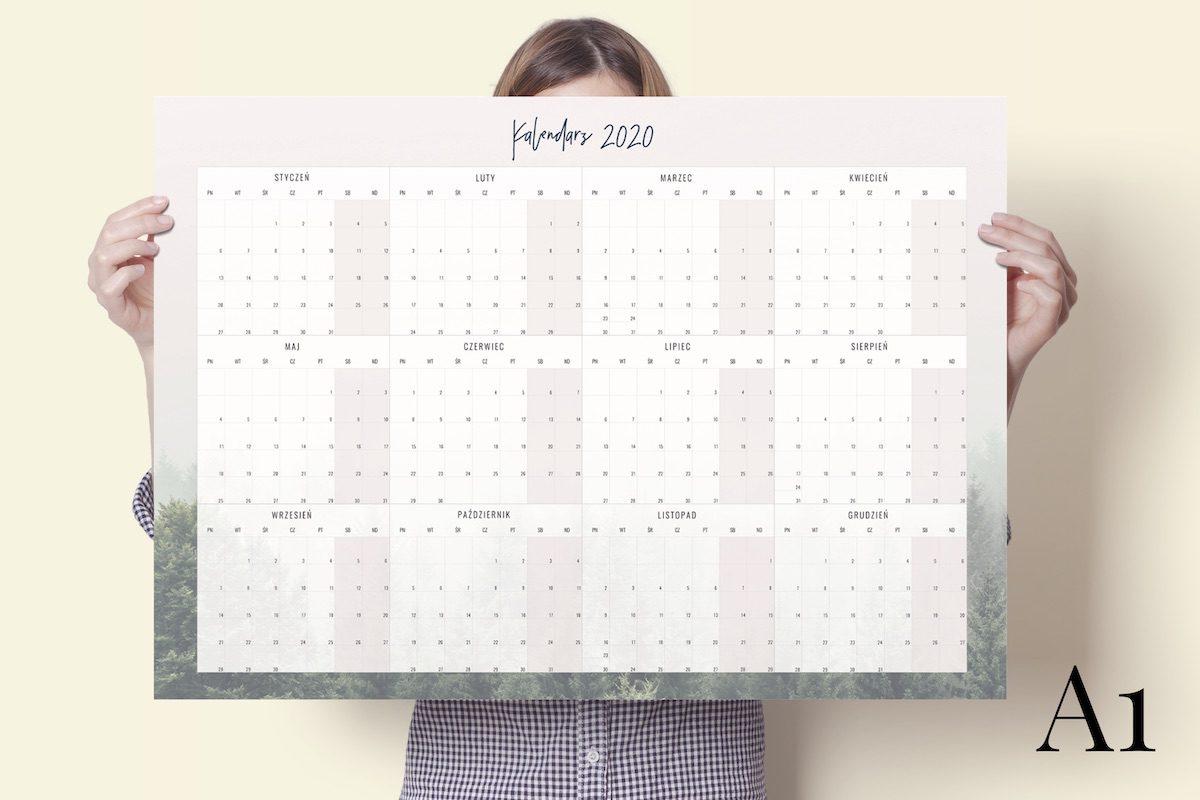a1 las 2020 kalendarz