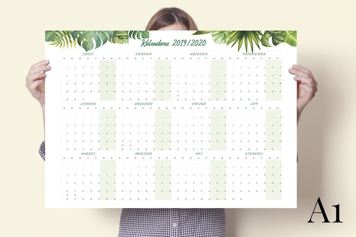 """a1 tropiki 2019 2020 1200x800 - Planer Kalendarz Ścienny """"Tropiki"""" 2019/2020 i 2020"""