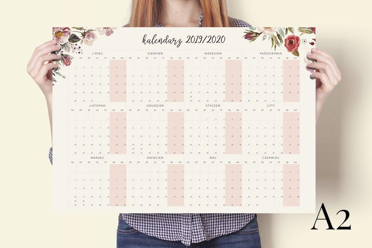 a2 floral 2019-2020 kalendarz