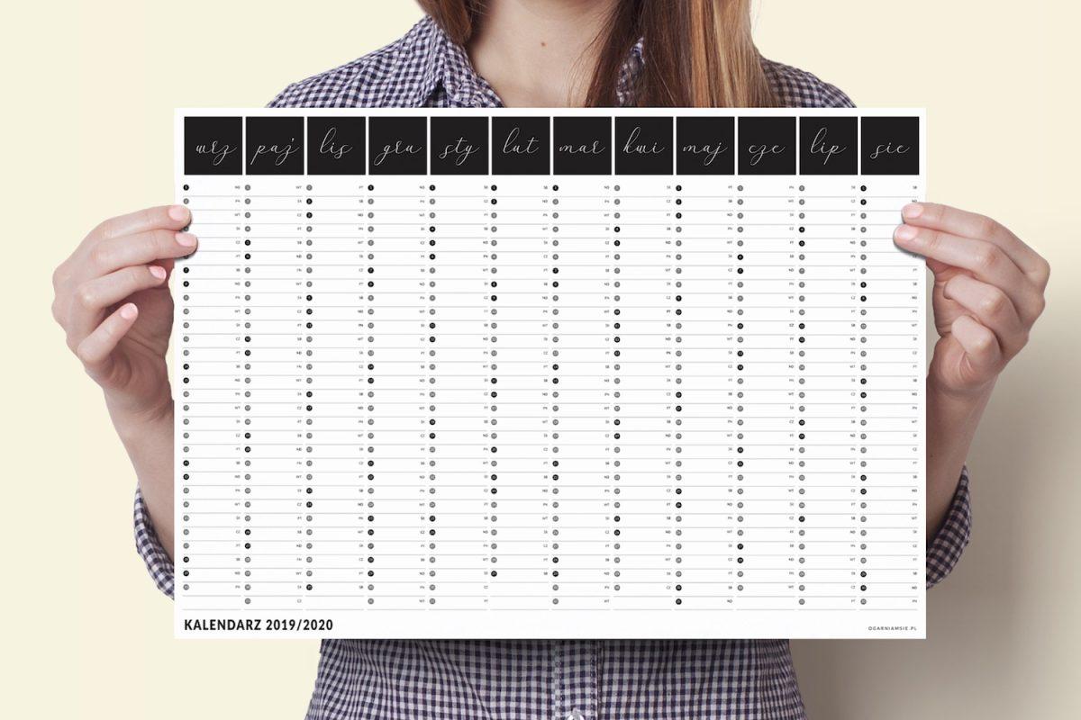 a3 kalendarz plakat xxl 2019 2020 5 1200x800 - Planer Kalendarz ścienny 2019/2020 i 2020 | Kalendarz plakat