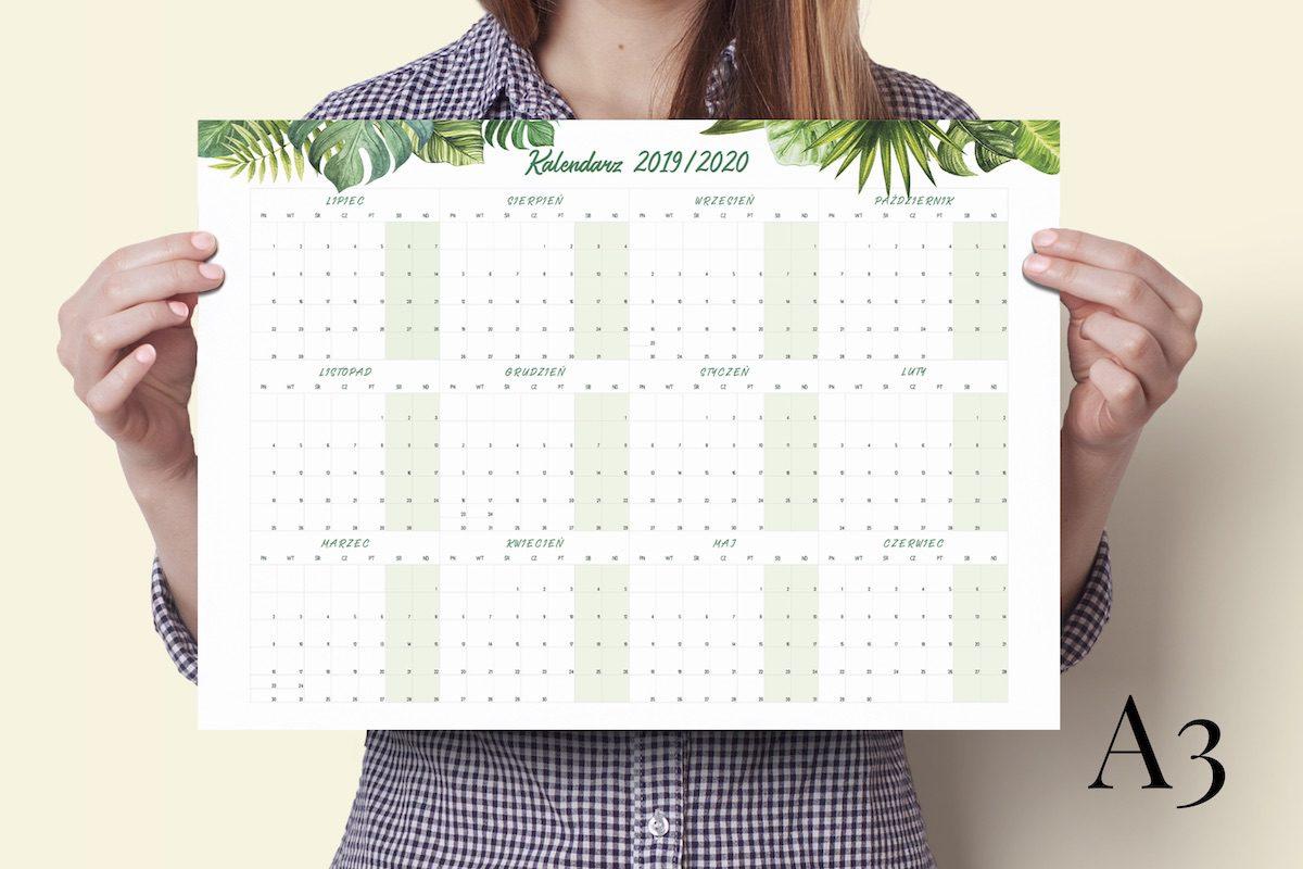 """a3 tropiki 2019 2020 1200x800 - Planer Kalendarz Ścienny """"Tropiki"""" 2019/2020 i 2020"""