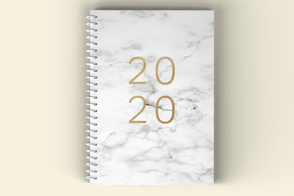 A5 okladka 2020 Marmur outline 2mm mockup