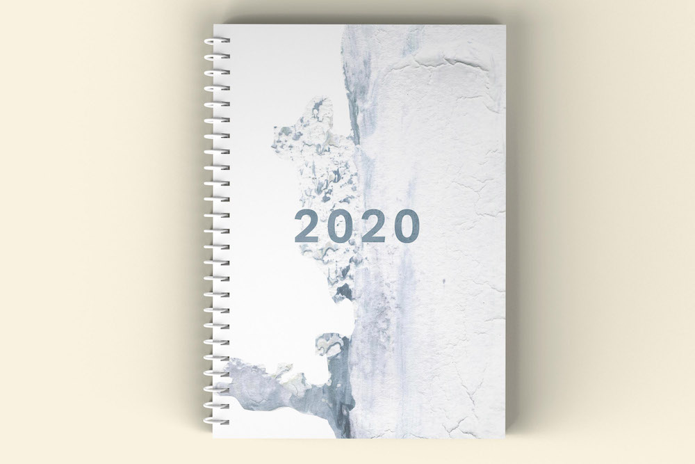 A5 okladka 2020 arctic outline 2mm mockup