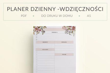 OgarniamSie PlanerDzienny do druku wdziecznosci mockup 450x300 - Planer Dzienny - Wdzięczności Kwiaty | Format A5