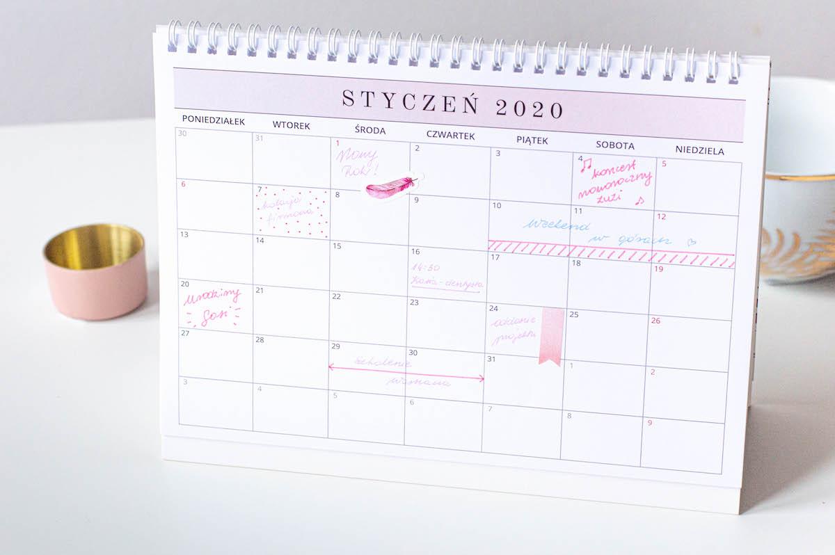 kalendarz 2020 planuje moj rok 1
