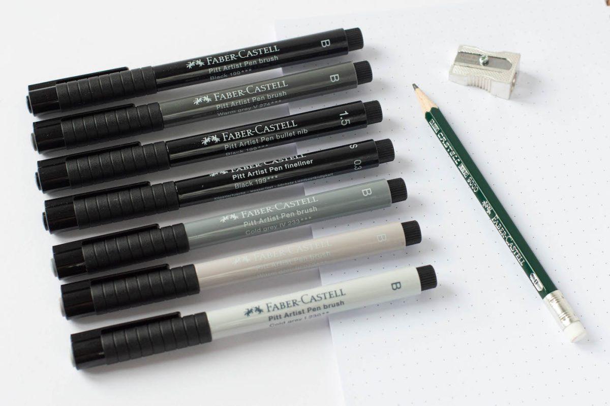 pit artist pen faber castell black