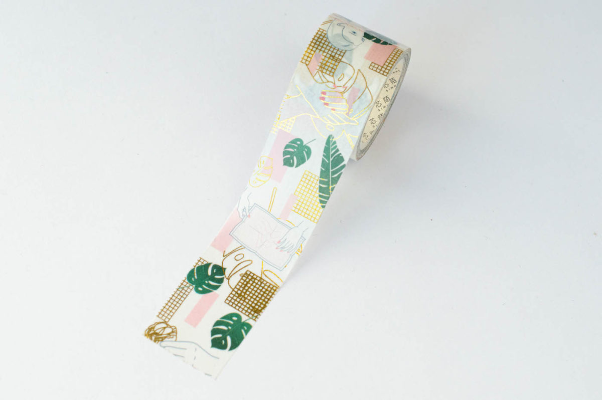 washi tape minimal monstera 2