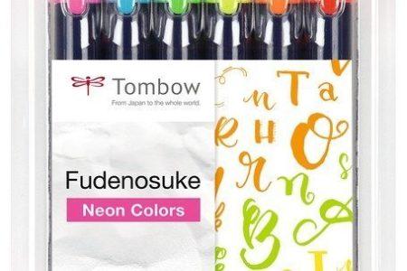 zestaw brush pen tombow fudenosuke 6 sztuk